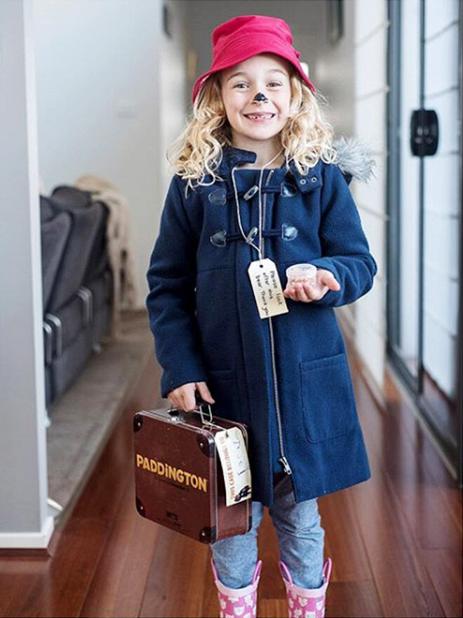 DIY paddington Bear costume, book week