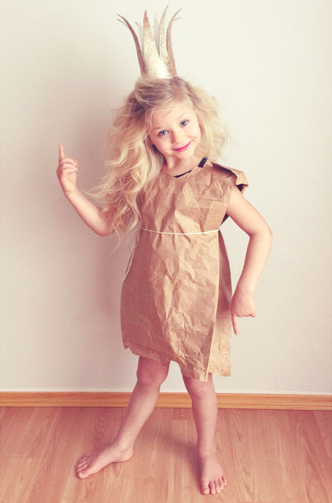 DIY Paperbag Princess costume, Robert Munsch