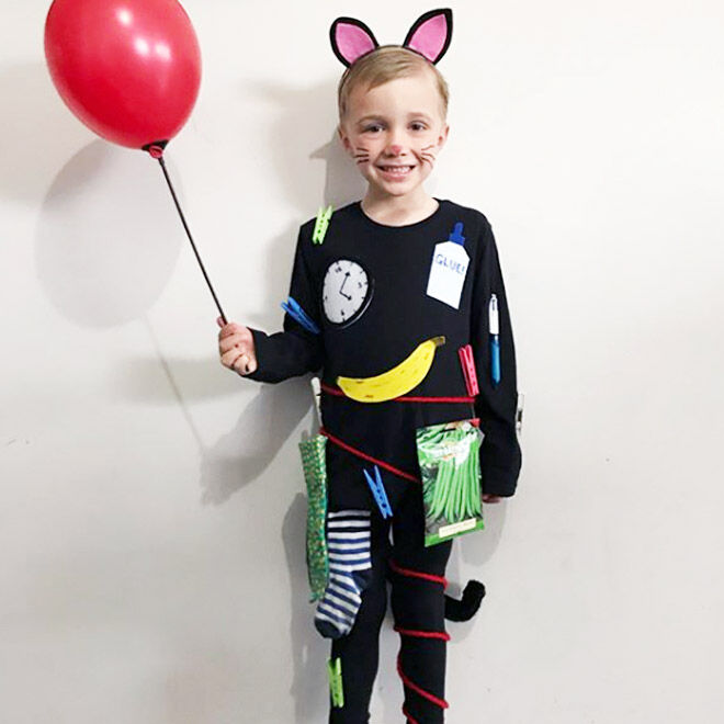 DIY Slinky Malinki costume, book week