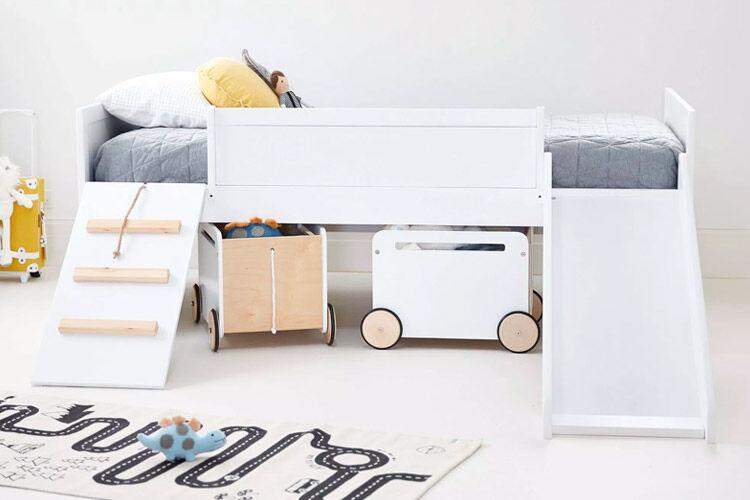 HipKids Kids Loft Timber Bed