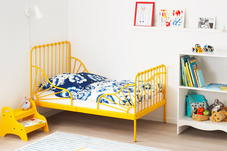 IKEA MINNEN toddler bed yellow