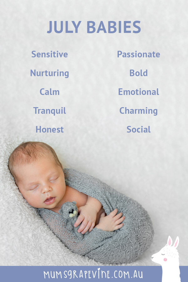 Common traits of July babies