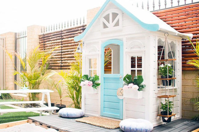 Beachy Kmart cubby house hack