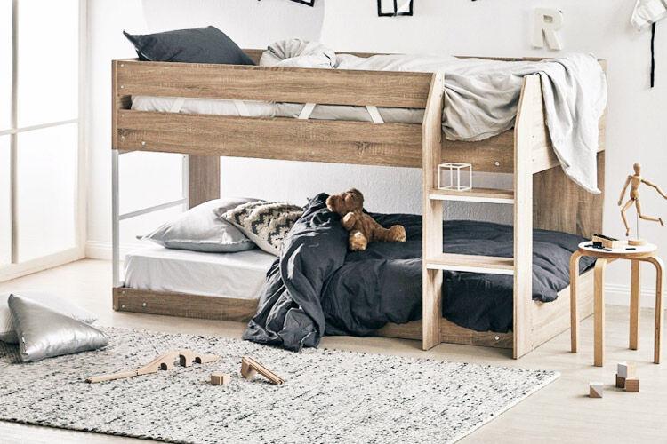 Oak & Grace low line single bunk bed