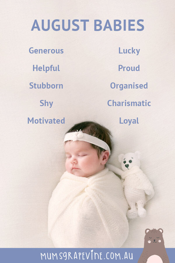 Characteristics of babies born in August | Mum's Grapevine