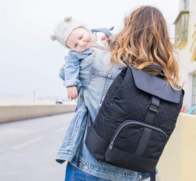 Smart backpack nappy bag