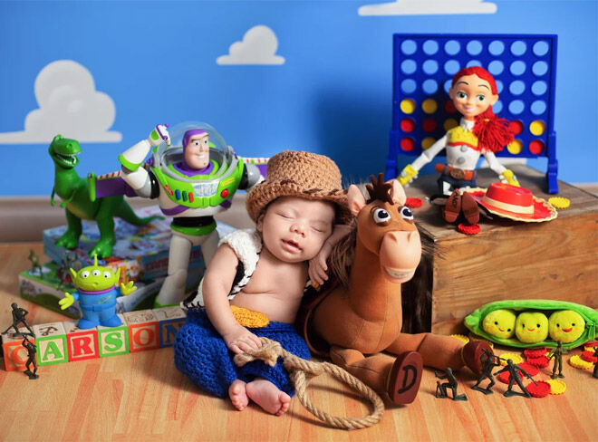 Toy Story newborn photo shoot
