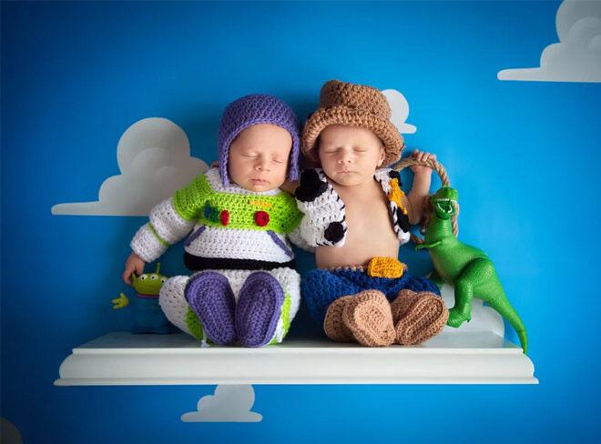 Toy Story themed newborn photos