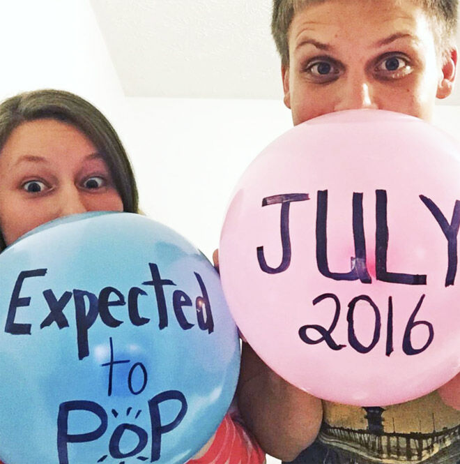 Ready to pop pregnancy announcement