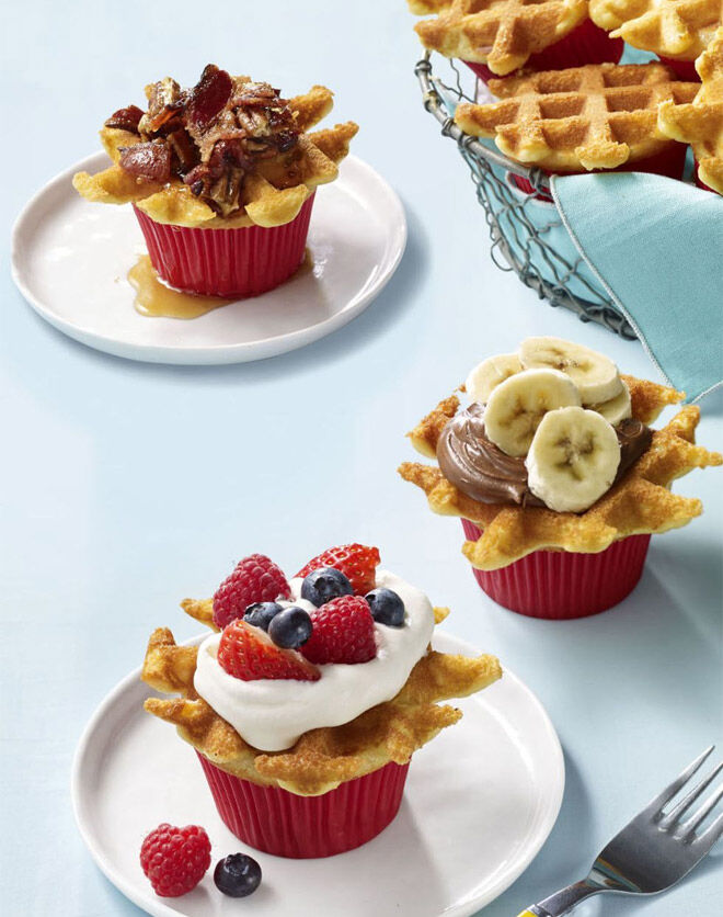 Breakfast wafflecakes Father's Day breakfast