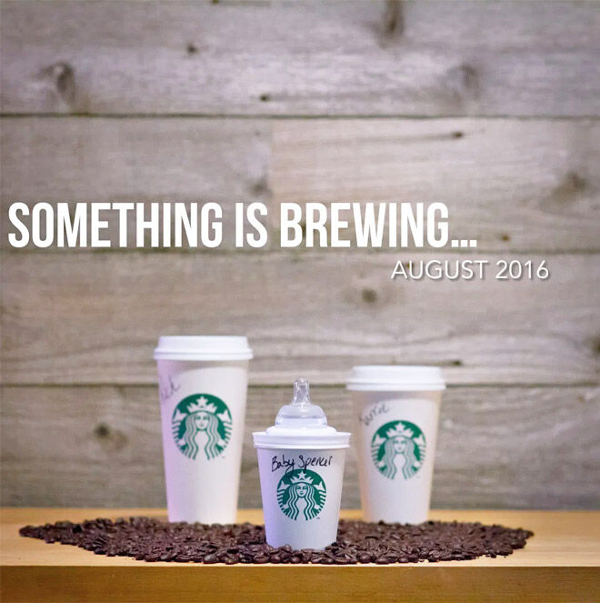 Starbucks pregnancy announcement