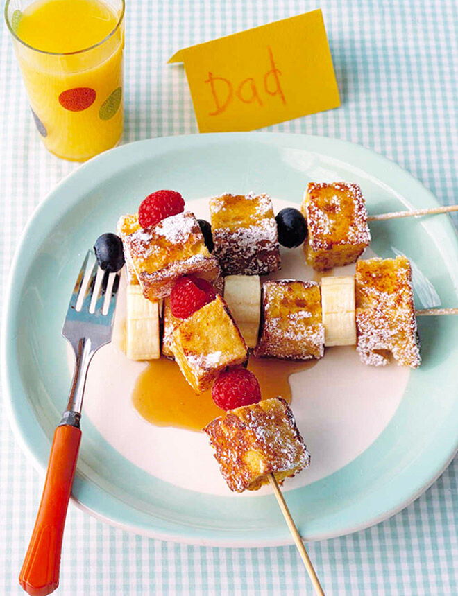 French toast kebabs for Father's Day breakfast
