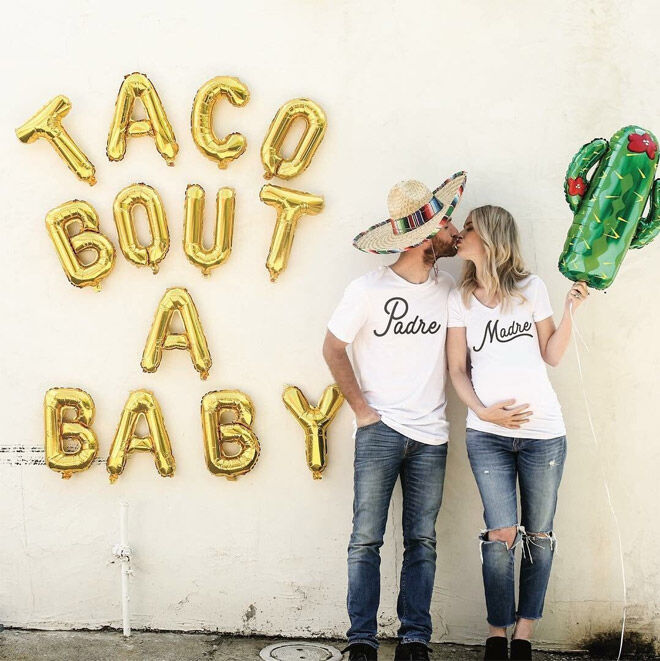 Fun photoshoot pregnancy announcement
