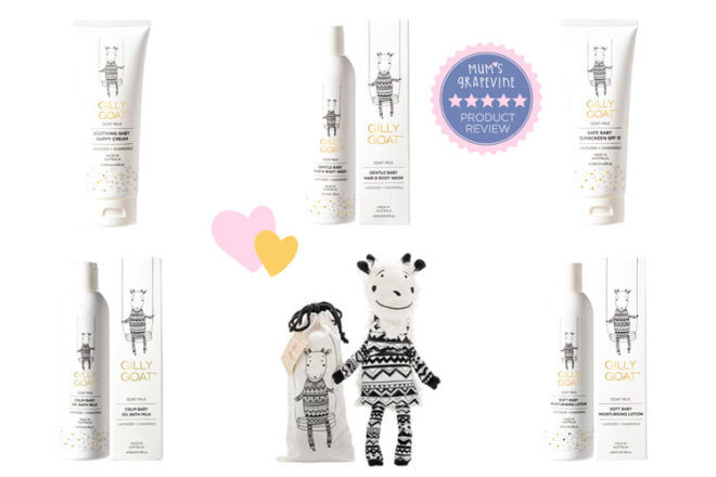 Gilly Goat skincare for babies