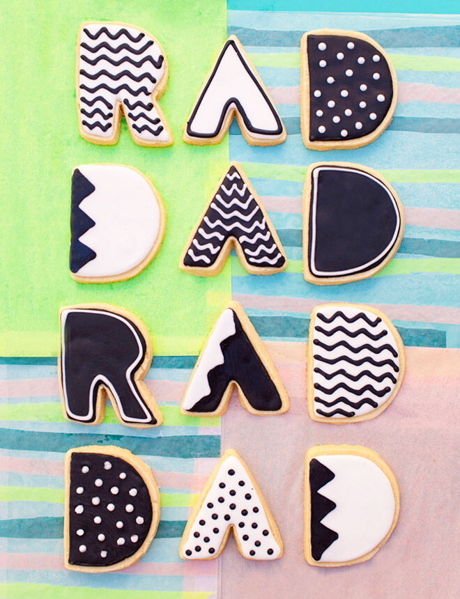 Rad Dad cookies, a delicious homemade gift for Father's Day
