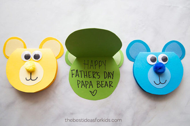 Homemade Father's Day card - Love you Papa Bear