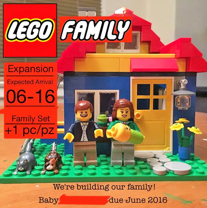 LEGO pregnancy announcement