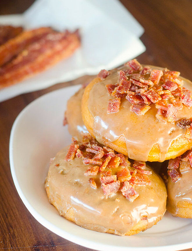 Maple bacon donuts for Father's Day breakfast