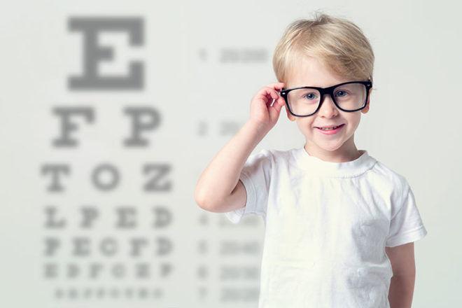 Boy eye test chart