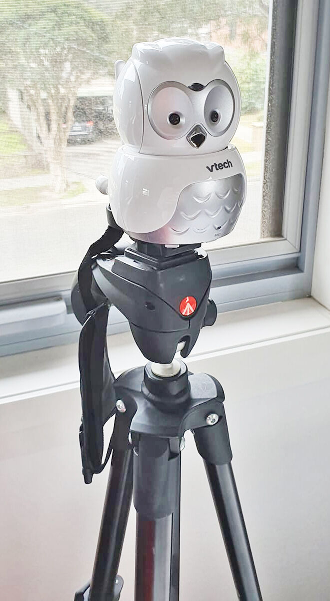 Baby monitor mounting hack