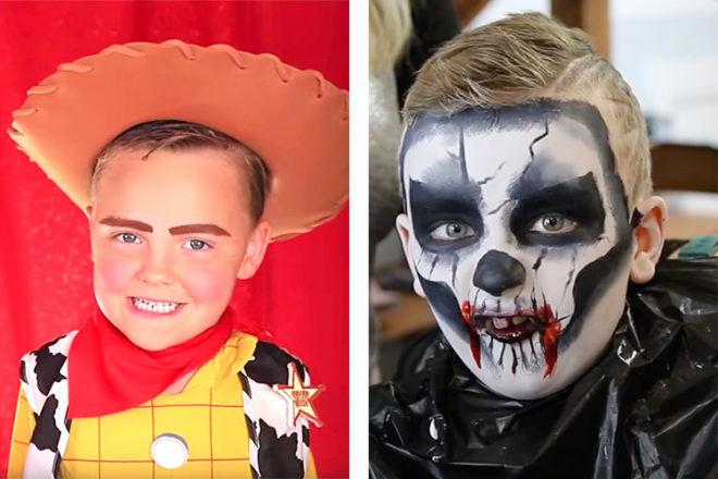 Kids Halloween makeup tutorials