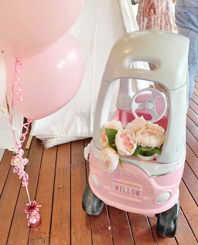 Little Tikes Cozy Coupe first birthday makeover