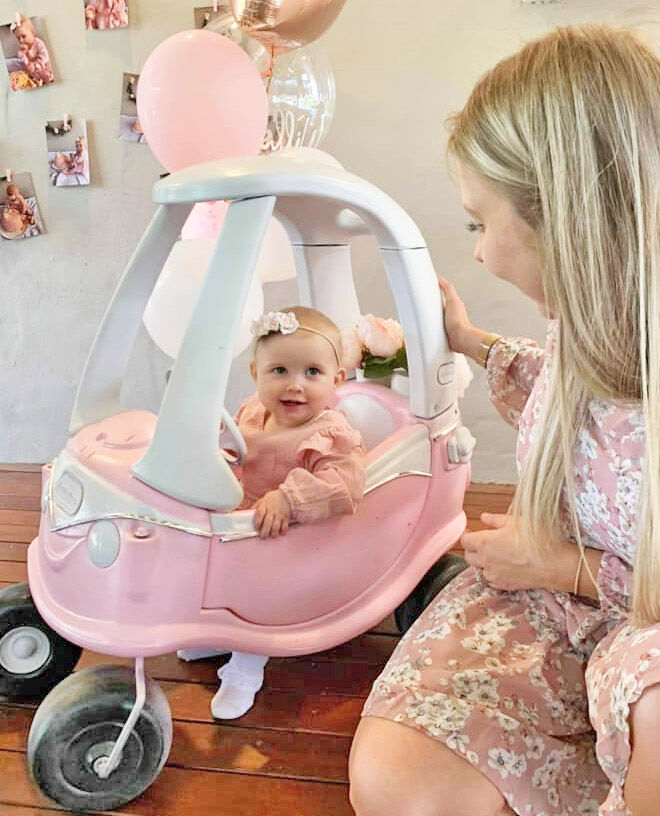 Little Tikes car pink makeover