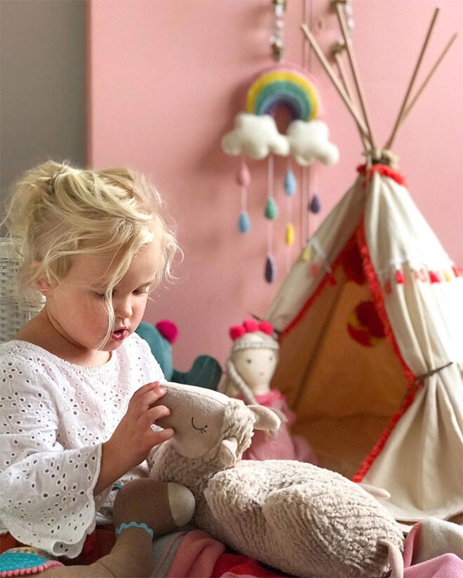 Dolls Teepee by Nana Huchy in coral