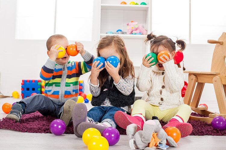 Kids in childcare centre