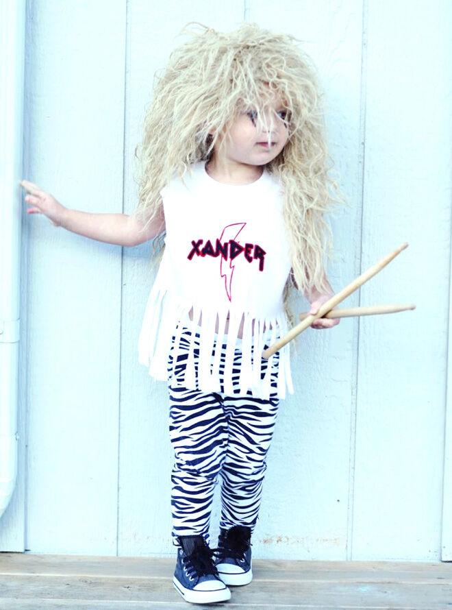 80s rocker costume for toddler