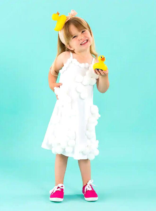 Bubble bath toddler costume