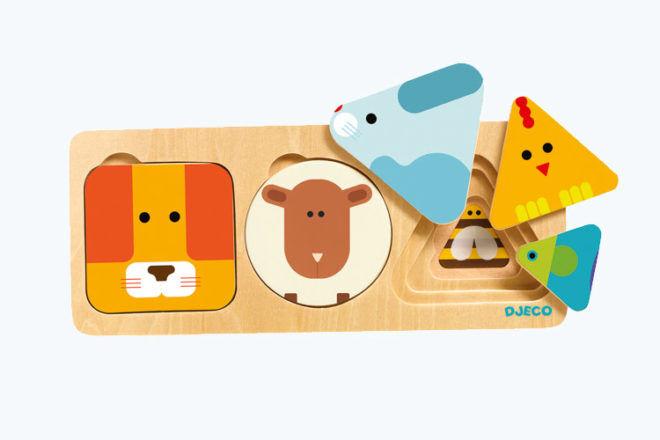 Djeco Anima Basic Wooden Puzzle