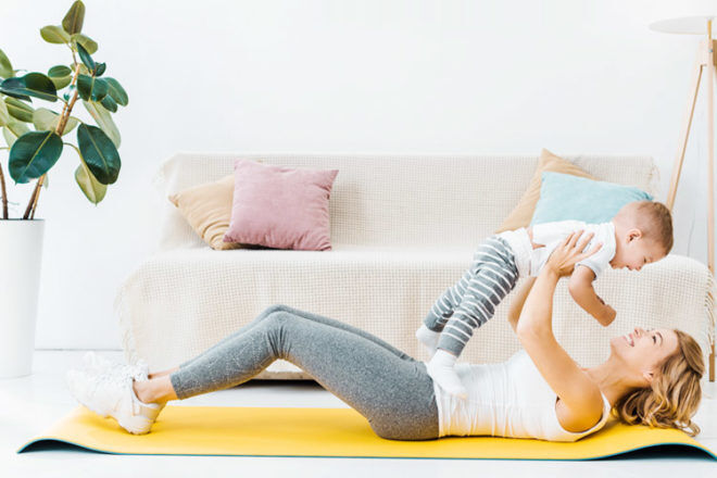 Easy post-natal exercises to do at home | Mum's Grapevine