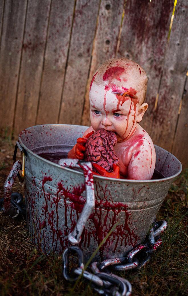 Halloween baby zombie