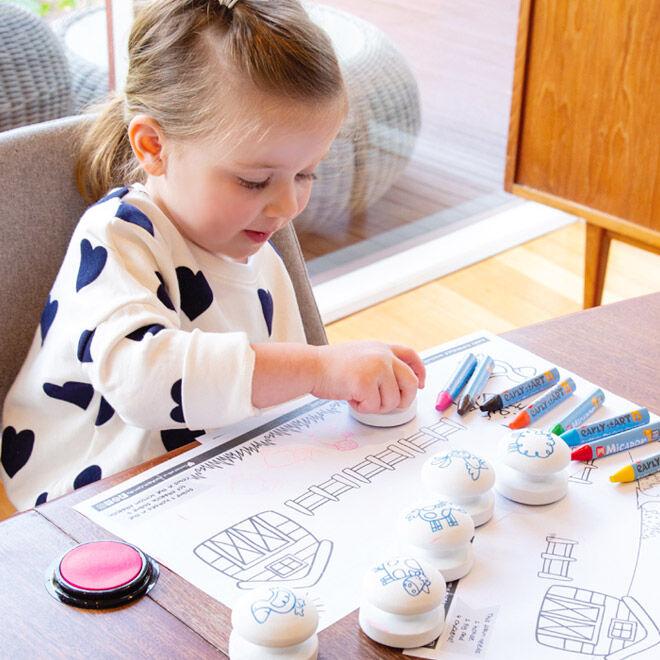 Micador Stamp and Colour Farmyard Set