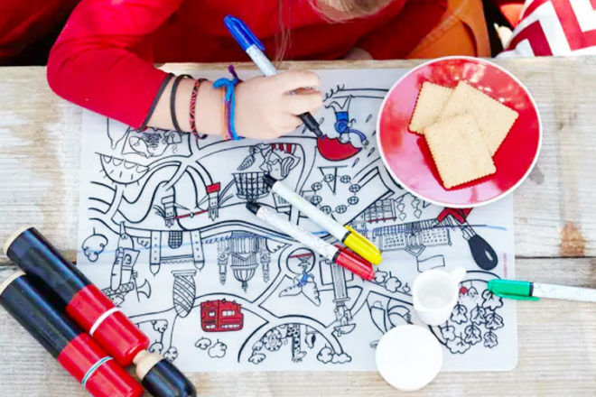 Colour-in placemat, Modern twist