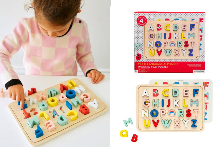 Petit Collage ABC Tray Puzzle - Hard to Find
