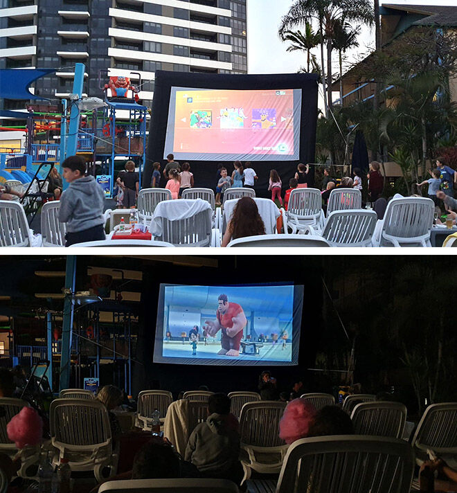 Paradise Resort poolside movies