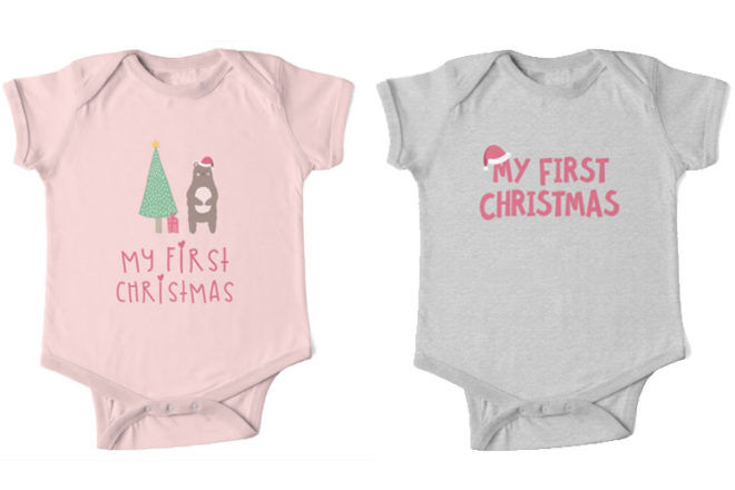 Babies first Christmas Onesies Red Bubble