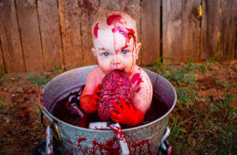 Zombie baby photo shoot for Halloween | Mum's Grapevine