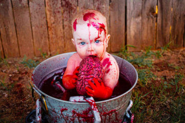 Zombie baby photo shoot for Halloween | Mum's Grapevine