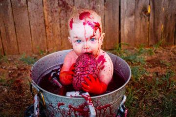 Zombie baby photo shoot for Halloween   Mum's Grapevine