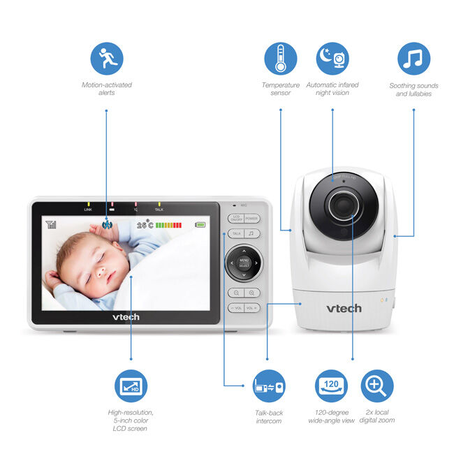 VTech RM5762 Baby Monitor features