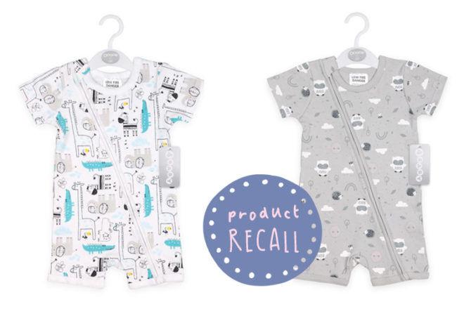 Baby romper recall