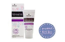 Brauer Teething Gel recall