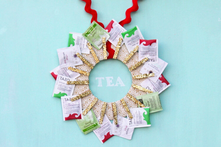 DIY Tea Wreath teacher gift idea