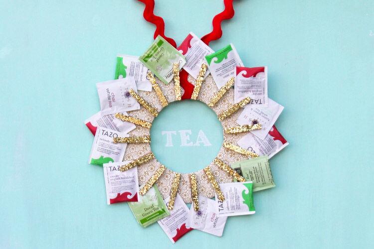 DIY Tea Wreath teacher gift idea