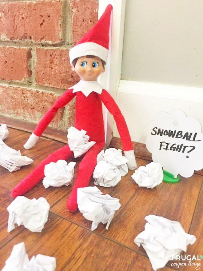 Easy elf ideas snowball fight