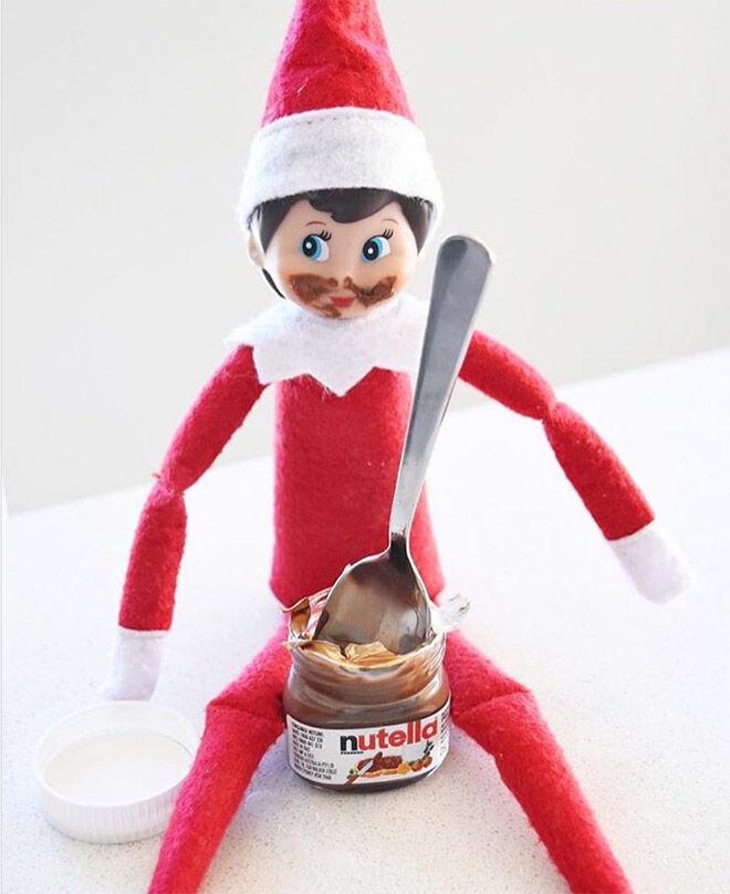 Elf on the Shelf Nutella idea
