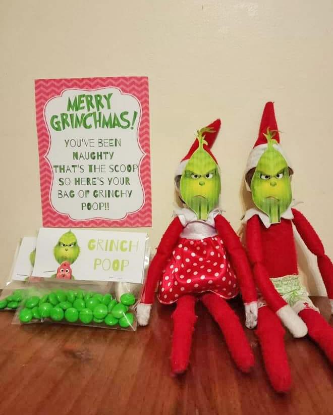 Elf on the Shelf Grinch poop